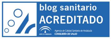 Sello de Certificación de Calidad del Programa de Acreditación de Páginas Web Sanitarias con el Manual de Estándares de Blogs Sanitarios. Agencia de Calidad Sanitaria de Andalucía.